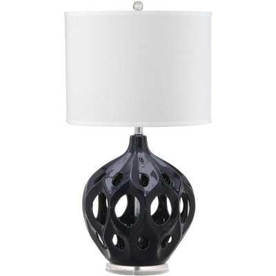 Safavieh Regina 29 in. Navy Ceramic Table Lamp - Home Depot