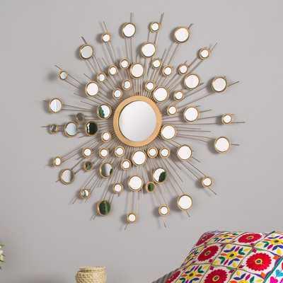 Sunburst Metal Wall Mirror - Wayfair