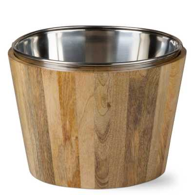 Malaya Mango Wood Wine Bucket - Home Depot
