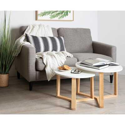 Mahalia Minimalist Wood 2 Piece Nesting Tables - Wayfair