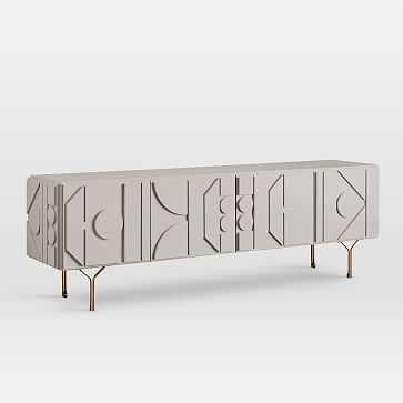 "Pictograph Media Console (84""), Flax - West Elm"