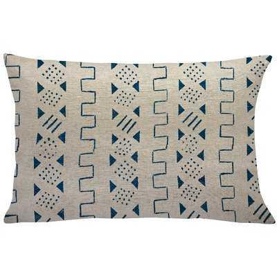 Albie Mud Cloth Linen Lumbar Pillow - Wayfair