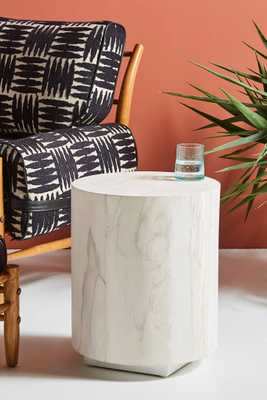 Swirled Drum Side Table - Anthropologie