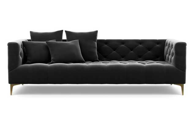 Ms. Chesterfield Sofa with Narwhal Fabric and Brass Plated legs - Interior Define