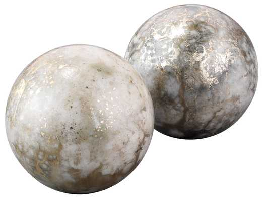 Orb Bookends in Silver and Gold (set of 2) - Jamie Young