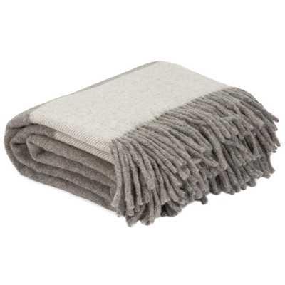 Platinum 100% Australian Wool Throw, Grays - Home Depot