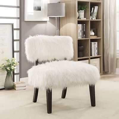 Furniture of America Lana Contemporary Faux Fur Accent Chair - eBay