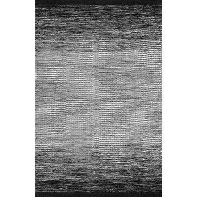 Ombre Desantis Black and White 6 ft. x 9 ft. Area Rug - Home Depot