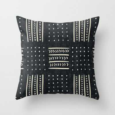 """Mud cloth in black and white Throw Pillow - Outdoor Cover (20"""" x 20"""") with pillow insert by Beckybailey1 - Society6"""