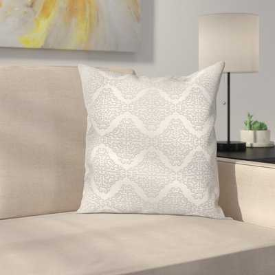 Damask Swirls Square Cushion Pillow Cover - Wayfair