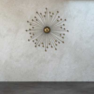 Withington 24 in. x 24 in. Metal Abstract Starburst Wall Decor - Home Depot