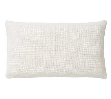 "Faye Textured Linen Pillow Cover, 16 x 26"", Ivory - Pottery Barn"