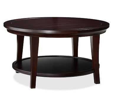 Metropolitan Round Coffee Table, Espresso stain - Pottery Barn
