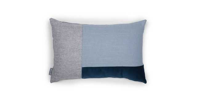 Velu Blue / Gray Rectangular Pillow - Article
