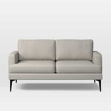 Andes Loveseat, Poly, Twill, Stone, Dark Pewter - West Elm