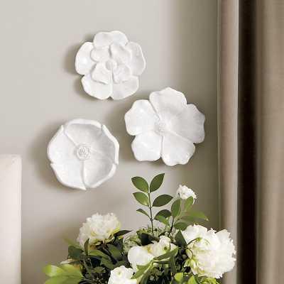 Ballard Designs Ceramic Blooms Wall Decor - Set of 3 - Ballard Designs