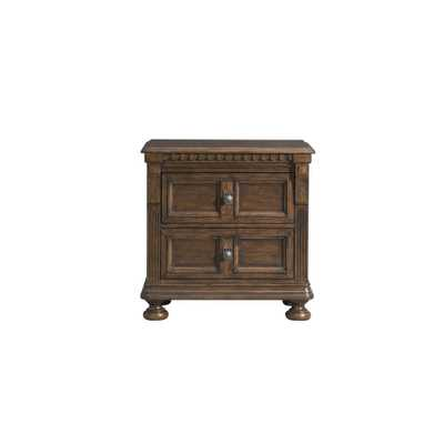 Element International Henry 2-Drawer Nightstand with USB in Walnut (Brown) - Home Depot