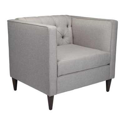 Grant Light Gray Arm Chair - Home Depot