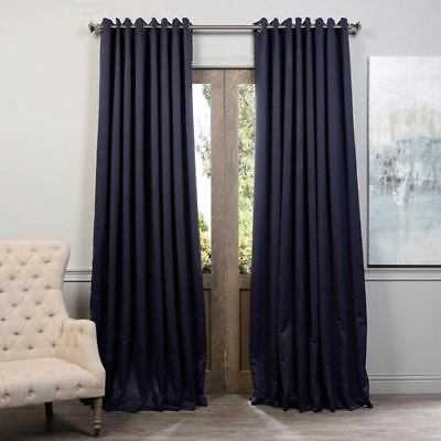 Half Price Drapes Navy Blue 84 x 100-Inch Grommet Blackout Curtain Single Panel - eBay