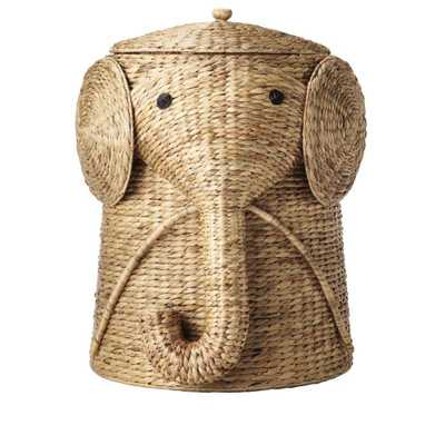 Home Decorators Collection 16 in. W Animal Laundry Hamper in Natural - Home Depot