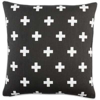 Antonia Cross Cotton Throw Pillow Cover - Wayfair