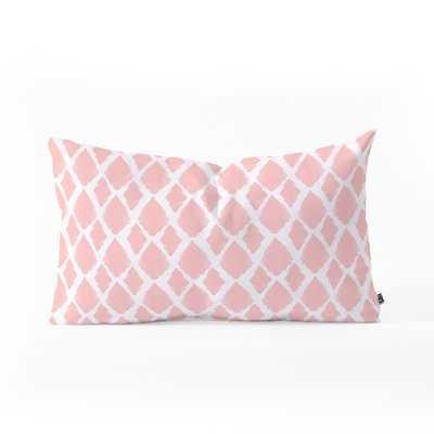 Ikat Blushed Lumbar Pillow - Wayfair