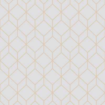 Myrtle Geo Grey and Rose Gold Removable Wallpaper - Priced per Roll - Covers 56 sq. ft. ($1.28/ft.) - Home Depot