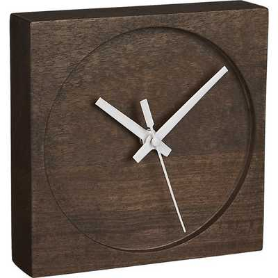 Square Circle Table Clock - CB2