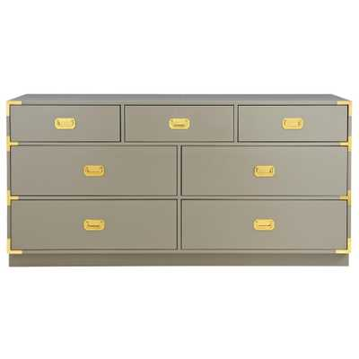 Chatham 7-Drawer Taupe Grey Dresser - Home Depot