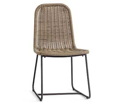 Plymouth Dining Chair, Natural/Bronze - Pottery Barn