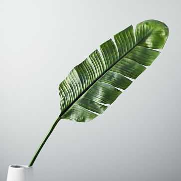 Faux Botanicals, Banana Leaf - West Elm