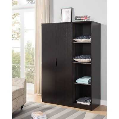 Rebrilliant Dewitt Wardrobe with Open Side Shelves Armoire: Red Cocoa Brown - eBay
