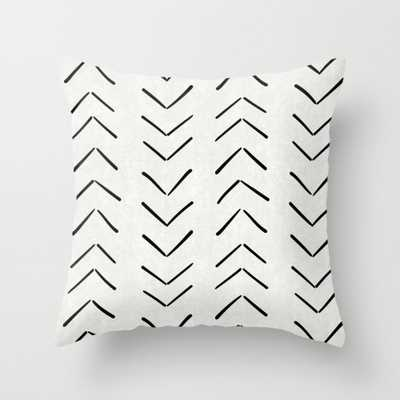 "Mud Cloth Big Arrows in Cream Throw Pillow - Indoor Cover (20"" x 20"") with pillow insert by Beckybailey1 - Society6"