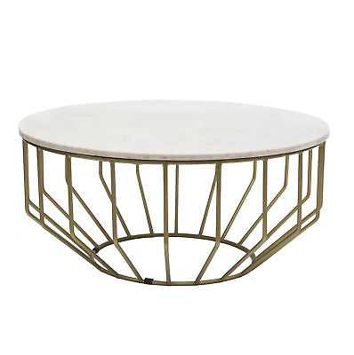 Everly Quinn Singletary Marble Round Coffee Table - eBay