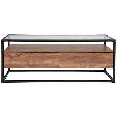 Union Rustic Riaan Coffee Table with Storage - eBay