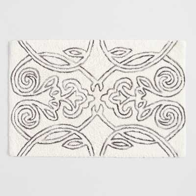 Ivory and Gray Marled Gate Tufted Bath Mat by World Market - World Market/Cost Plus