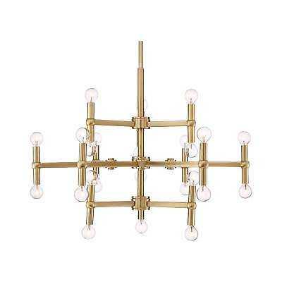 "Possini Euro Marya 32"" Wide Satin Brass 24-Light Chandelier - eBay"