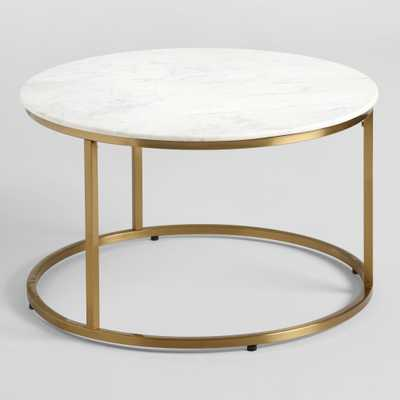 Round White Marble Milan Coffee Table by World Market - World Market/Cost Plus