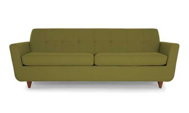 Green Hughes Mid Century Modern Sleeper Sofa - Royale Apple  - Medium - Joybird