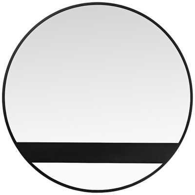 "Varaluz Casa Cadet Black 30"" Round Wall Mirror - Style # 69F42 - Lamps Plus"
