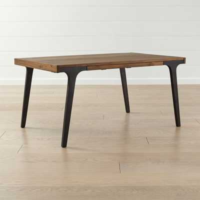 """Lakin 61"""" Recycled Teak Extendable Dining Table - Crate and Barrel"""