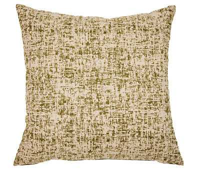 """Zepplin Feather Down Antique White & Olive Green Distressed 22"""" Accent Pillow - eBay"""