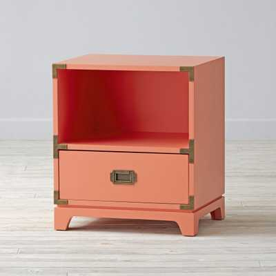 Kids Campaign Nightstand (Coral) - Crate and Barrel