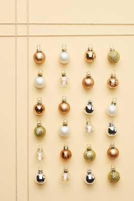 Copper Mini Ornaments, Set of 24 - Anthropologie