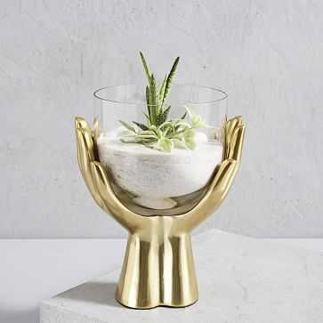 Brass Hands Terrarium - West Elm