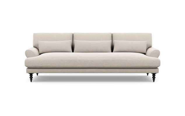 Maxwell Sofa with Linen Fabric and Matte Black legs - Interior Define