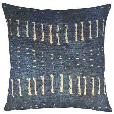 Wisser Distressed Indigo Throw Pillow - Wayfair