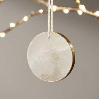 Round Alabaster Ornament - CB2
