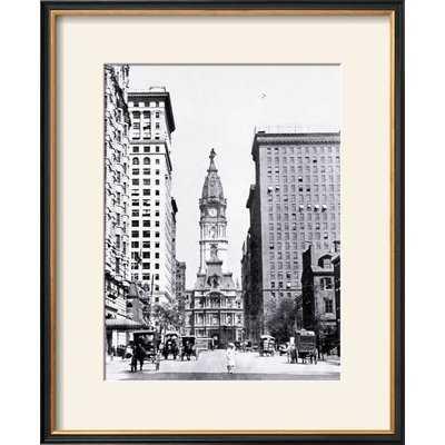 'Looking North on Broad Street, Philadelphia, Pennsylvania' Framed Photographic Print - Wayfair