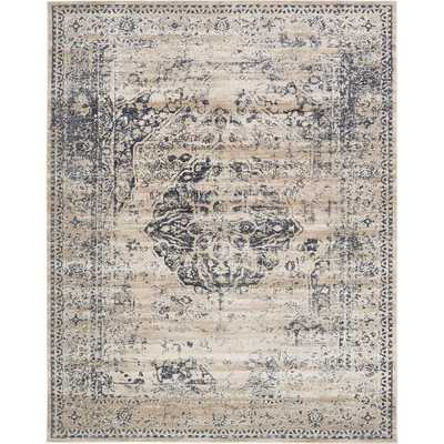 Villa Dark Blue 8 ft. x 10 ft. Area Rug - Home Depot
